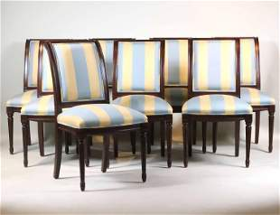Eight Neoclassical Style Dining Chairs