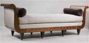 Neoclassical Style Inlaid Mahogany Daybed