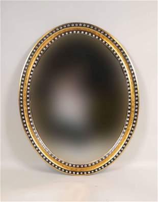 Regency Style Bejeweled Oval Mirror
