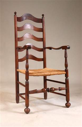 Delaware River Valley Ladderback Maple Armchair