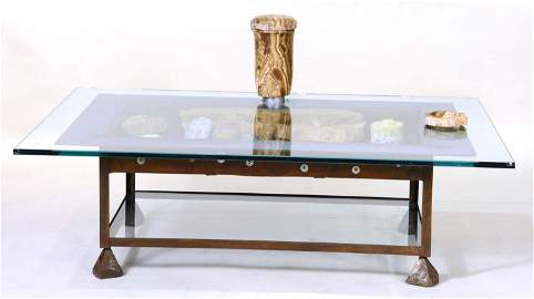 Stone, Glass, and Metal Table, Mark Mennin