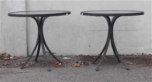Pair of Cast Classics Cast Aluminum Side Tables