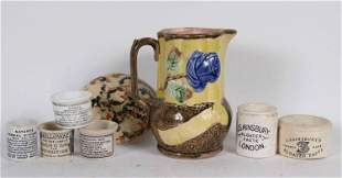 Six Ceramic Apothecary Storage Pots