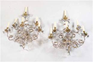 Pair of Louis XVI Style Six-Light Wall Sconces
