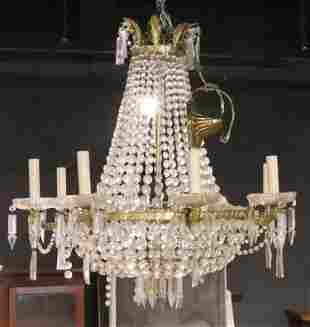 Neoclassical Style Eight Light Chandelier