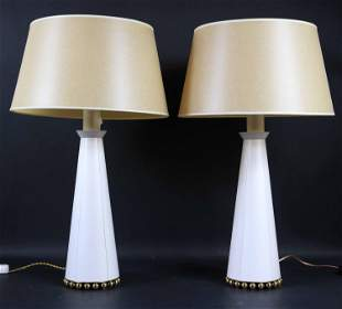 Pair of Modern Brass Mounted Table Lamps