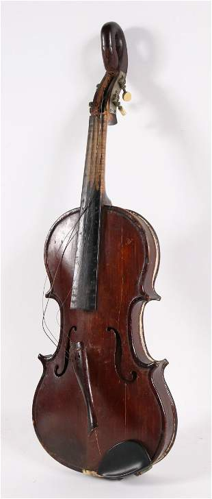 American Violin with Stylized Gooseneck Scroll