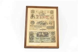 Three Antique Bank Notes
