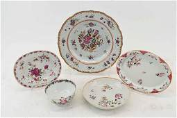Group of Chinese Export Famille Rose Porcelains