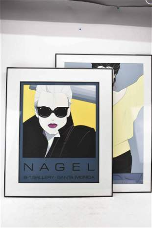 Two Patrick Nagel Gallery Prints