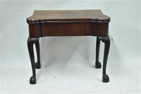 Antique Georgian Mahogany Swing Leg Games Table