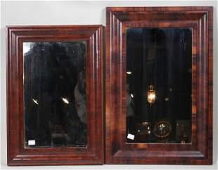 Two Empire Mahogany Pier Mirrors