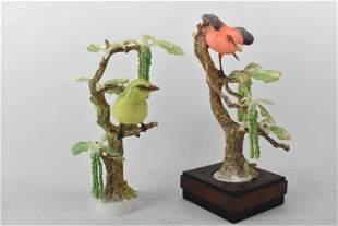 2 Dorothy Doughty Scarlet Tanager Porcelain Birds