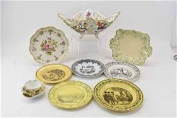 Group of French Faience Transfer Printed Plates