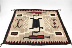 Navajo Style Wool Woven Mat
