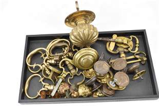 Group of Assorted Brass Furniture Pulls & Knobs
