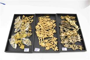 Group of Assorted Brass Decorative Hardware Plate