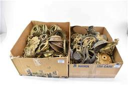 Group of Assorted Lamp & Chandelier Parts