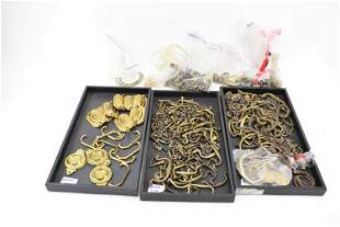 Group of Assorted Brass Drawer Pulls & Handles