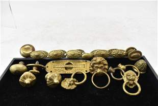 Group of Assorted Brass Hardware