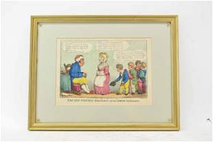 Thomas Rowlandson Satirical Colored Engraving