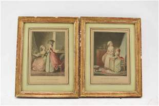 Two Prints after Lavrince and Janinet