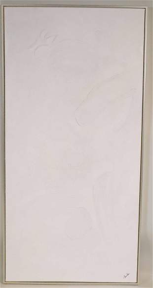Abstract White Oil on Canvas