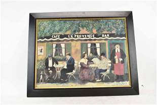 Print on Board, Cafe La Provence Bar