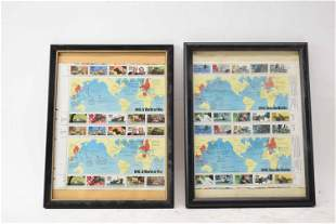 Two US Collector Stamp Sheets Dedicated to WWII