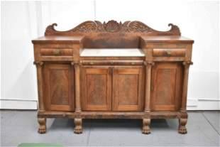 Antique Mahogany Philadelphia Carved Sideboard