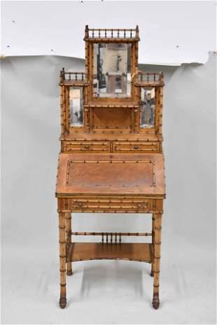 Bamboo Victorian Slant Front Desk