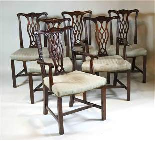 Six George III Style Mahogany Dining Chairs
