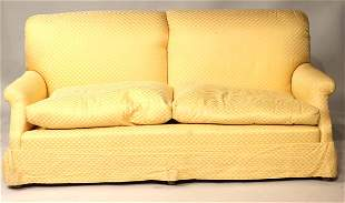 Contemporary Yellow-Upholstered Settee