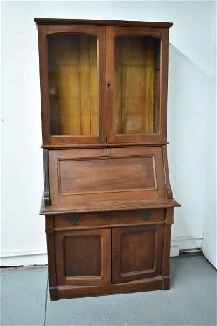 Victorian Walnut Slant Front Desk