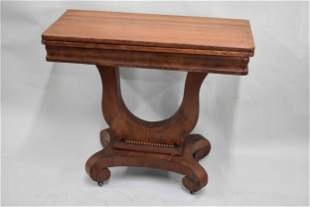 Empire Style Mahogany Turn Top Game Table