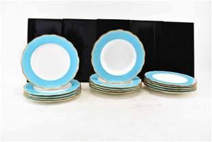 Antique English Turquoise Blue Porcelains
