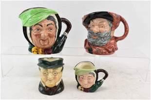 4 Royal Doulton Toby Mugs
