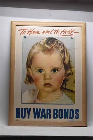 Original American World War II War Bonds Poster