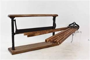 Antique Iron and Wood Drying Rack