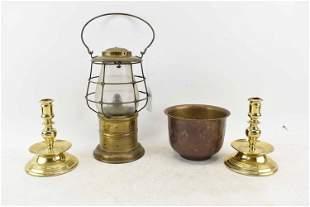 Brass Kerosene Lantern