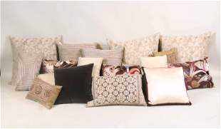 Large Group of Contemporary Throw Pillows