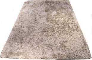 Chandra Modern Rugs Silver and Tan Shag Carpet