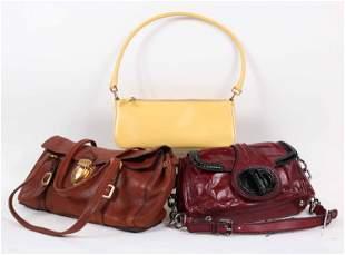 Three Prada Ladies Leather Handbags