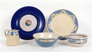 Saturday Evening Girls Plates, Bowls, Creamer