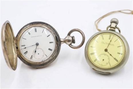 Group of 2 American Metal Pocket Watches