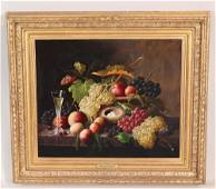 Severin Roesen, 'Still Life with Champagne Flute'