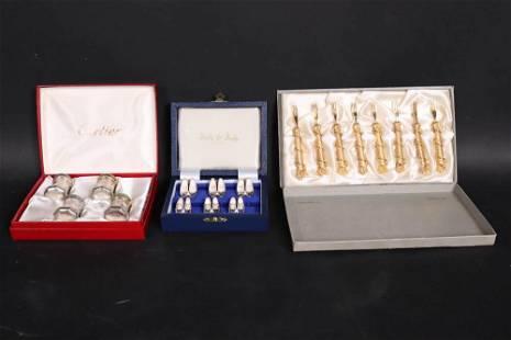 Cartier Sterling Silver Boxed Set Salt & Pepper