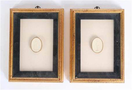 Two Grand Tour Plaster Medallions