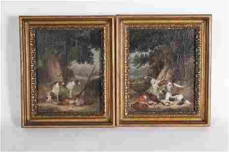 Unknown Artist, Dogs and Dead Game in a Landscape