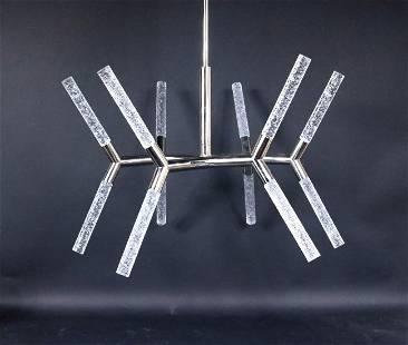 Contemporary Chrome Sputnik 12-Light Chandelier